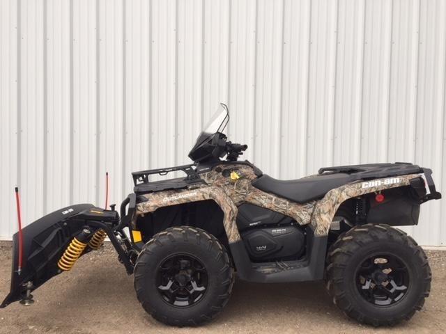 2015 Can-Am 2015 650XT CAMO OUTLANDER W/PLOW KIT ATV For Sale
