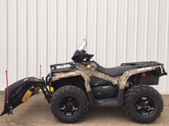 ATV For Sale 2015 Can-Am 2015 650XT CAMO OUTLANDER W/PLOW KIT