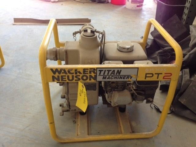 2011 Wacker PT2A, Self-Priming, 2