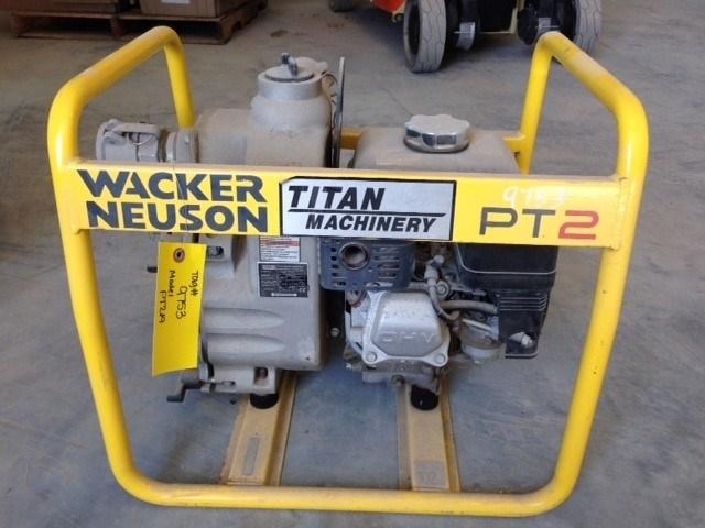 2012 Wacker PT2A, Self-Priming, 2