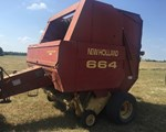Baler-Round For Sale: 1998 New Holland 664