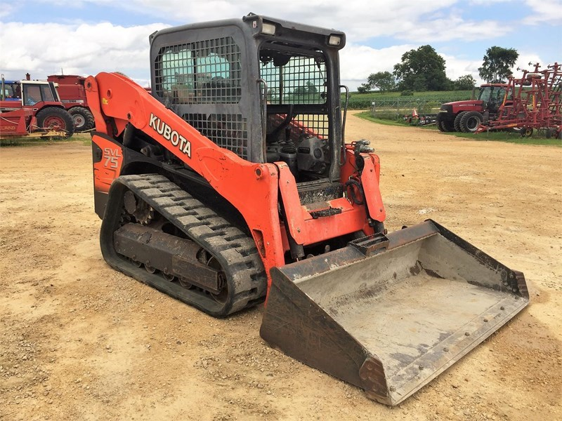 2011 Kubota SVL75 Skid Steer-Track For Sale