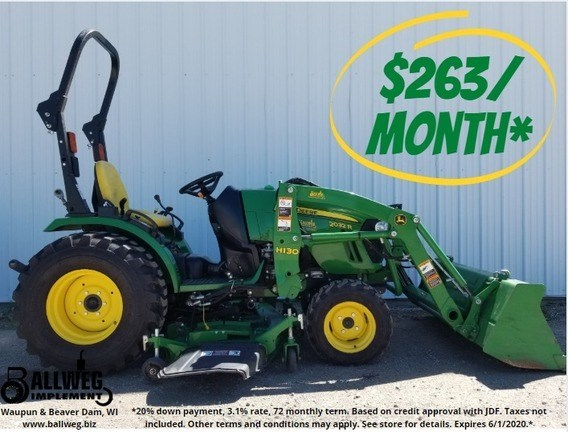 2015 John Deere 2032R Tractor For Sale