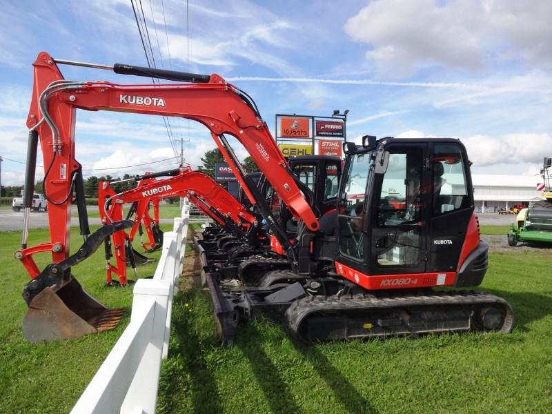 2016 Kubota KX080-4R3A Excavator-Track For Sale