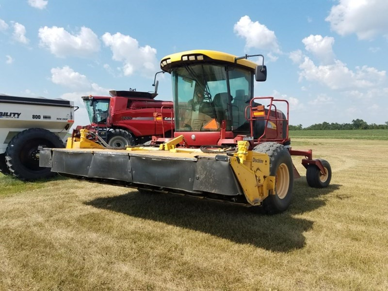 2008 New Holland H8060 Windrower-Self Propelled For Sale