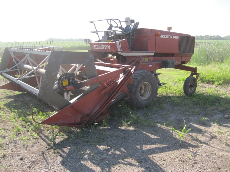 1982 AGCO Hesston 6450 Windrower For Sale