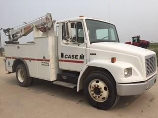1998 Freightliner FL70, AC, PTO, Gas Welder, Diesel, Leaf Susp  Camion de Servicios a la venta