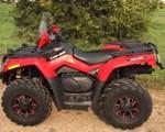 ATV : 2010 Can-Am 2010 OUTLANDER 650XT - RED