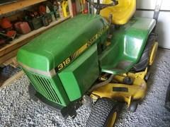 Riding Mower For Sale:  1991 John Deere 316 , 16 HP