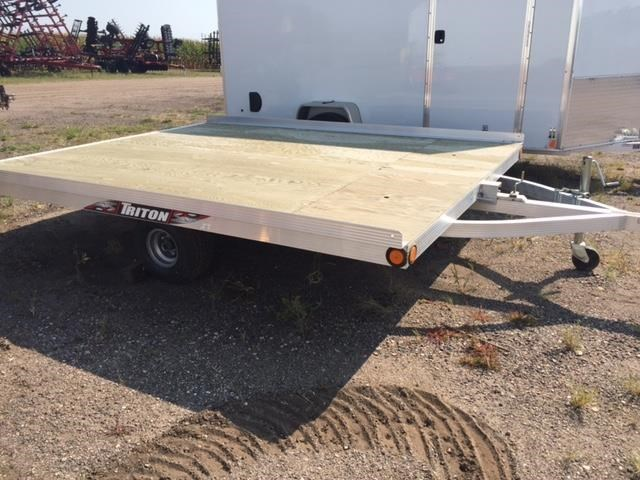 2017 Triton 2017 XT10-101WB ALUMINUM TILTBED Snowmobile Trailer For Sale