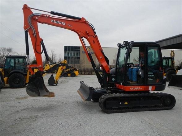 2018 Kubota KX080-4 Excavator-Track For Sale