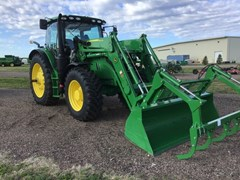 Tractor - Row Crop For Sale 2018 John Deere 6155R , 155 HP