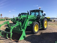 Tractor - Row Crop For Sale 2016 John Deere 6155R , 155 HP