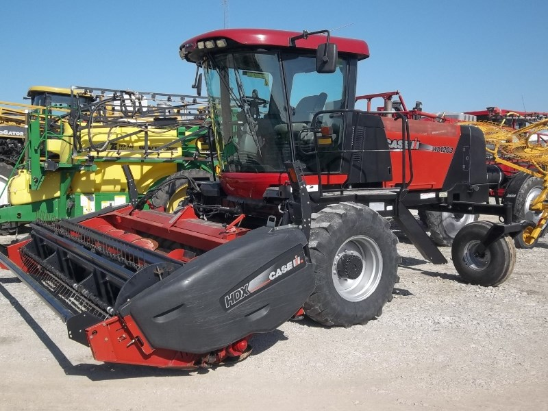 2012 Case IH WD1203 Windrower-Self Propelled For Sale