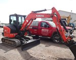 Excavator-Mini For Sale: 2014 Kubota KX040-4R3T, 40 HP