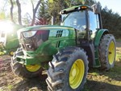 Tractor - Row Crop For Sale 2014 John Deere 6140M , 140 HP