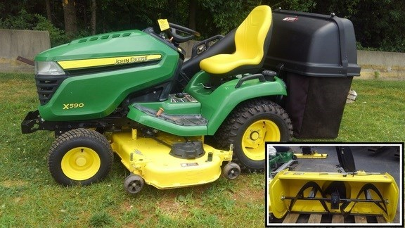 2017 John Deere X590 PACKAGE Riding Mower For Sale
