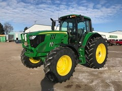 Tractor - Row Crop For Sale 2017 John Deere 6155M , 155 HP