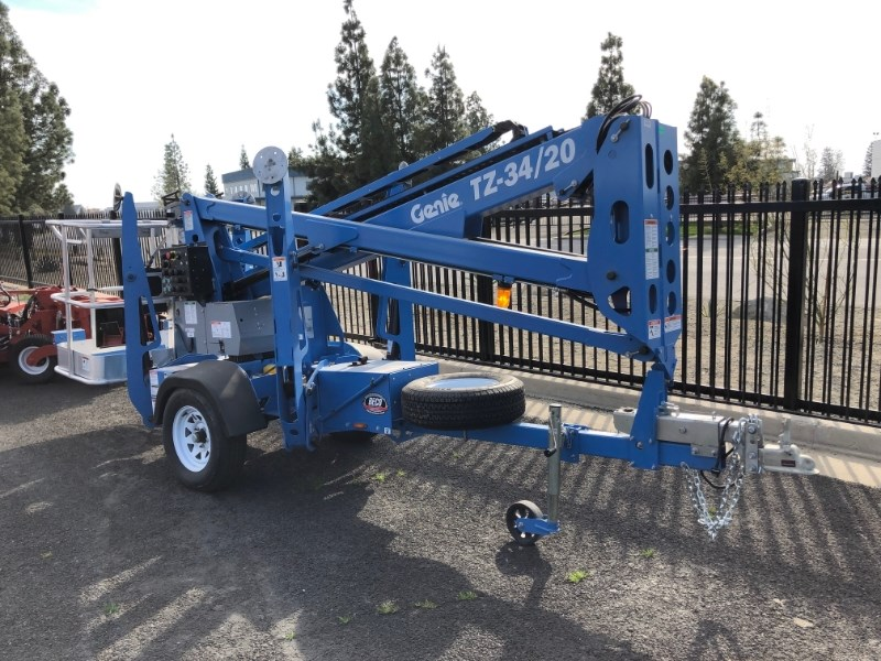 2020 Genie TZ-34/20 Boom Lift-Trailer Mounted For Sale