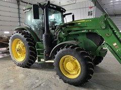 Tractor - Row Crop For Sale 2018 John Deere 6145R , 145 HP