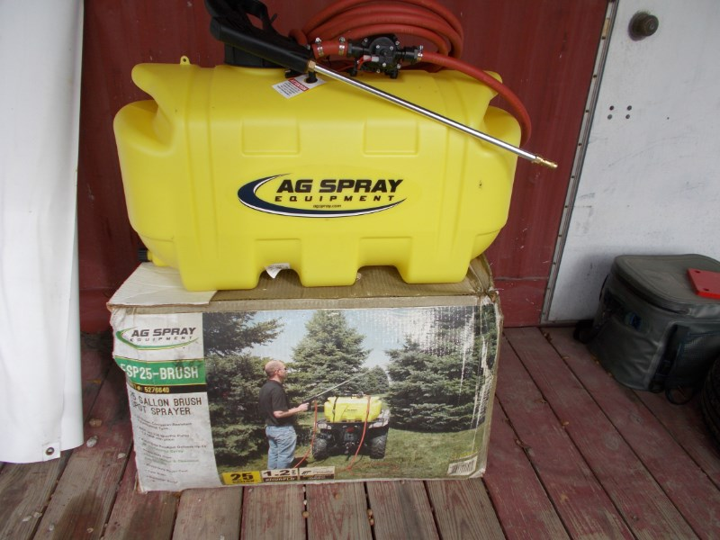 Ag Spray New 25 gal. 12-volt spot brush / weed sprayer Sprayer Attachment For Sale