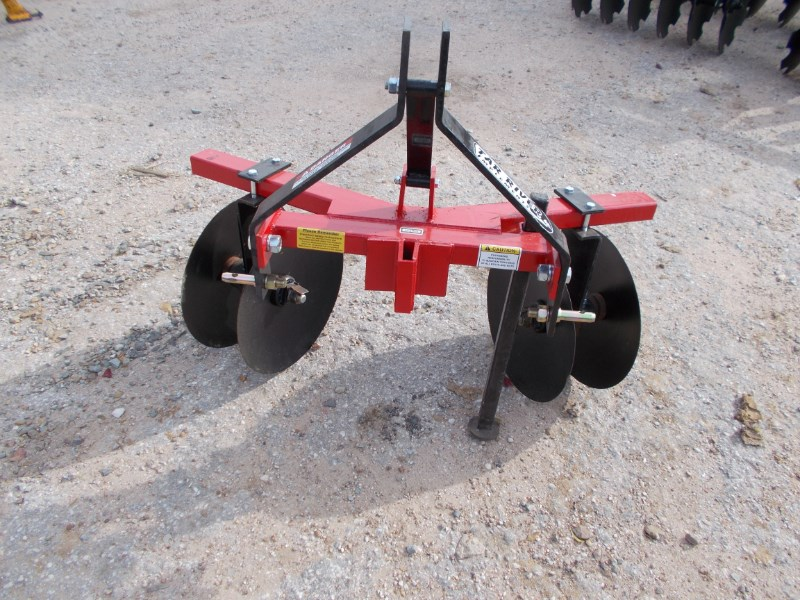 Tar River New 3pt Double disc adjustable bedder row maker hi Disk Harrow For Sale
