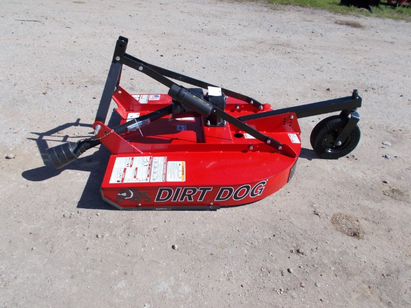 Dirt Dog New well made Dirt Dog 3pt 4' brush hog RC104 Rotary Cutter For Sale