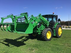 Tractor - Row Crop For Sale 2019 John Deere 6155R , 155 HP
