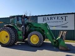 Tractor - Row Crop For Sale:  2015 John Deere 6215R , 215 HP