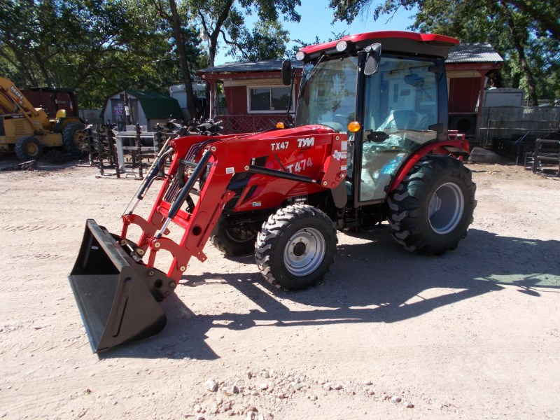 TYM New TYM T474 CAB diesel 4x4 tractor w/ front end l Tractor For Sale