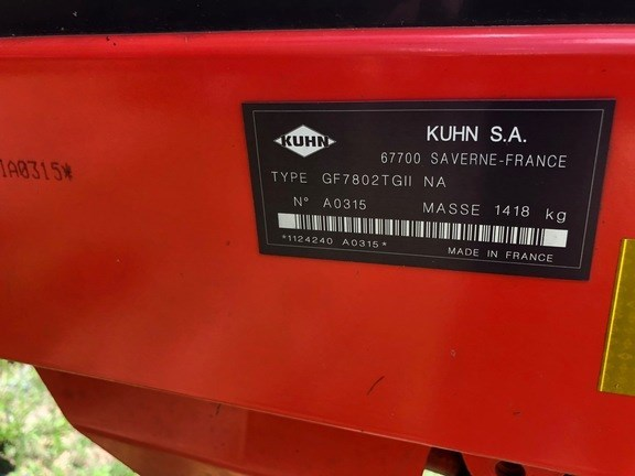 Kuhn GF7802TG11 Tedder For Sale