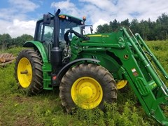 Tractor - Row Crop For Sale:  2019 John Deere 6155M , 155 HP