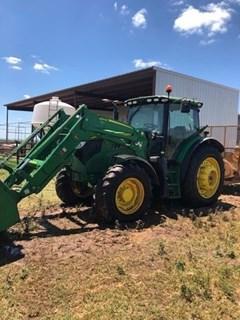 Tractor - Row Crop For Sale 2016 John Deere 6155R , 155 HP