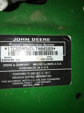 2020 John Deere Z920M Zero Turn Mower For Sale