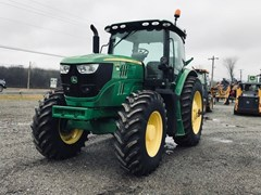 Tractor - Row Crop For Sale 2015 John Deere 6145R , 145 HP