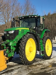 Tractor - Row Crop For Sale:  2018 John Deere 6155RH , 155 HP