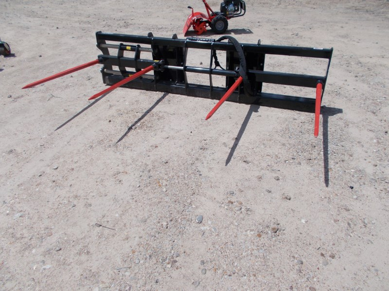 Notch ADJUSTABLE TWO BALE SPEAR For Skid Steer quick con Bale Spear For Sale