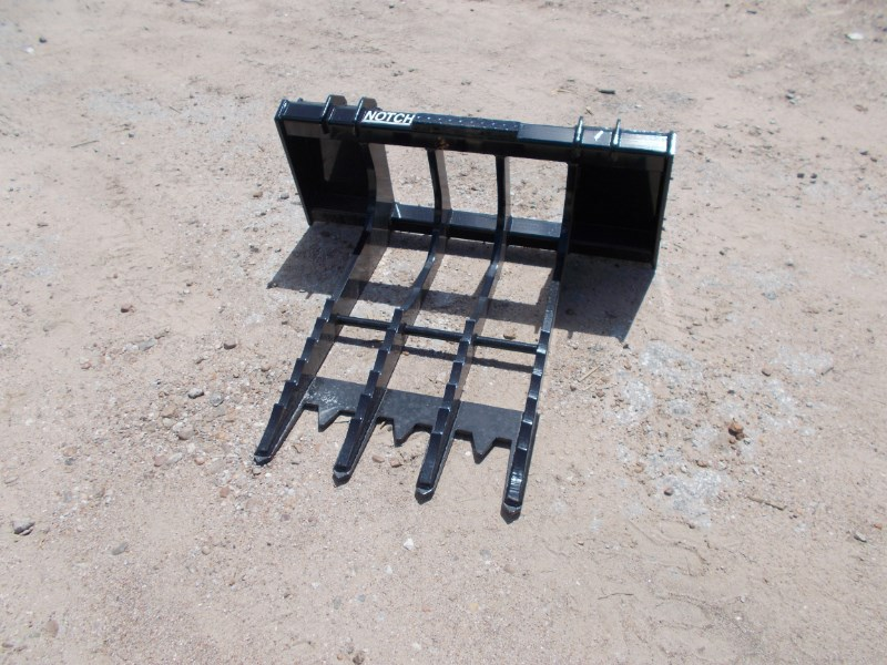 Notch Extra Heavy Duty Root Stump Bucket Skid Steer Attachment For Sale