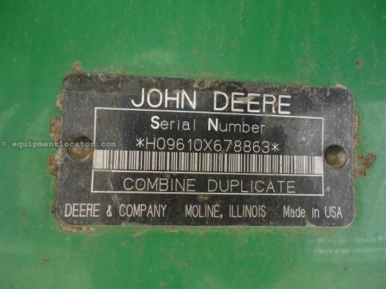 1998 John Deere 9610 Combine For Sale