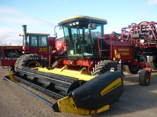 2004 New Holland HW320 Windrower-Self Propelled For Sale