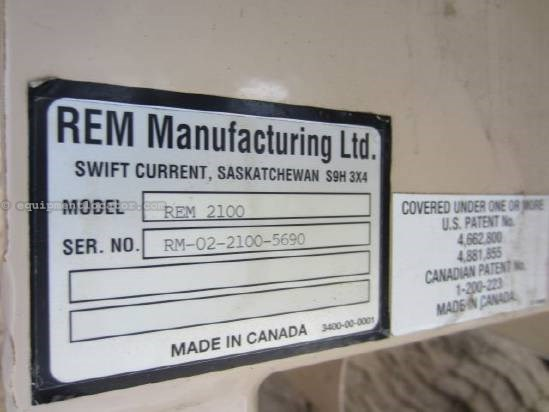 2002 REM Manufacturing 2100 Grain Vac For Sale