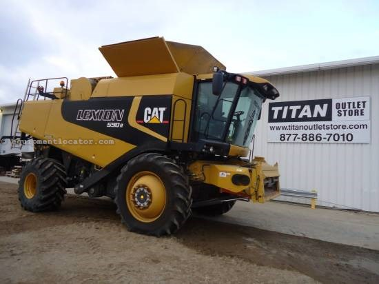2005 Caterpillar 590R - Sep Hrs 1382, 620 Duals, 24 ft, Cebis Mon. Combine For Sale