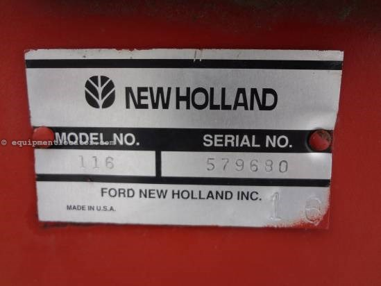 1995 New Holland 116 Mower Conditioner For Sale