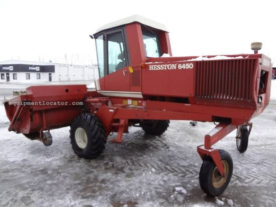 1981 Hesston 6450 Windrower-Self Propelled For Sale