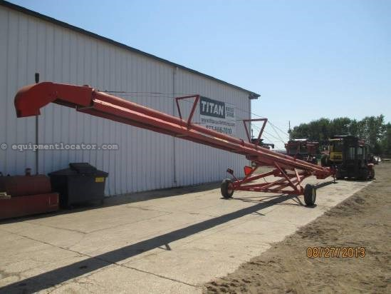 "Highline 6510, 65', 10"", Hyd Lift, 540 PTO Belt Conveyor For Sale"