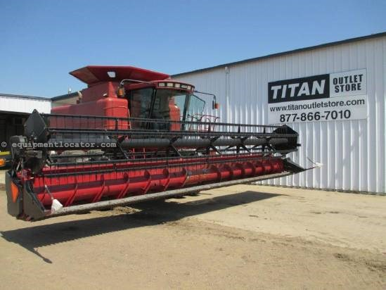 2004 Case IH 1020, 30', (1688/2188/2366/2388)Johnson Rock Guard Header-Flex For Sale