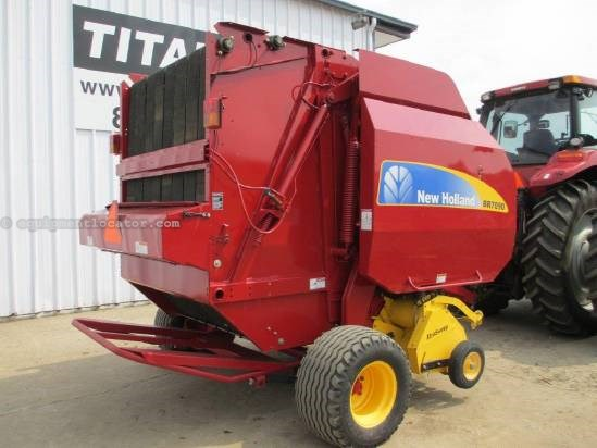 2010 New Holland BR7090, Net Wrap, Monitor, Counter, Gath Wheels Baler-Round For Sale