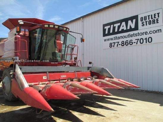 1990 Case IH 1063, 6R30,(1660/1680/2166/2366/2388) FT, Low Prof Header-Corn For Sale