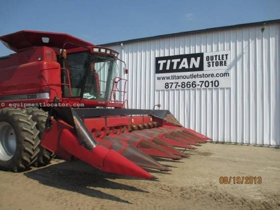 1996 Case IH 1083, 8R30, 1666/1688/21668/2188, FT, Low Profile Header-Corn For Sale