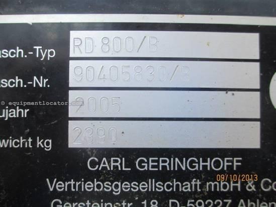 2005 Geringhoff RD830, 8R30, (5088/6088/7088/8010/7010),Roto Disk  Header-Corn For Sale